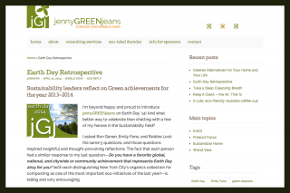 A tip-filled blog & website for a Green consultant
