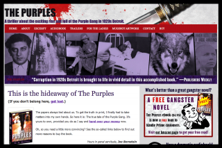 Splashy, evocative website for crime novel