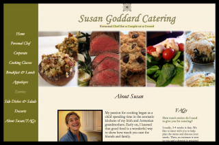 Deliciously earthy personal chef and catering website