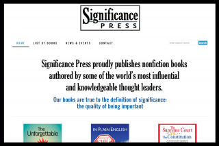 Stylish business site for a new literary press