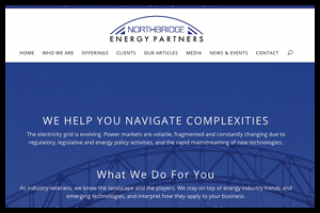 A business website for energy consultants