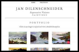 Fine-art online portfolio where the work is the star