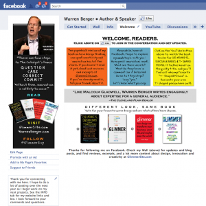 Warren Berger author Facebook landing page