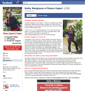 Kathy Margiasso * Fitness Expert FB landing page